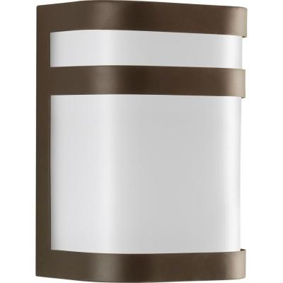 Valera Collection 1-Light 8.1 in. Outdoor Antique Bronze Wall Lantern Sconce