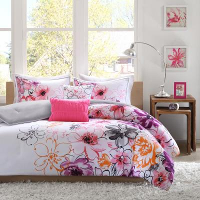 Ashley 5-Piece Pink Full/Queen Comforter Set