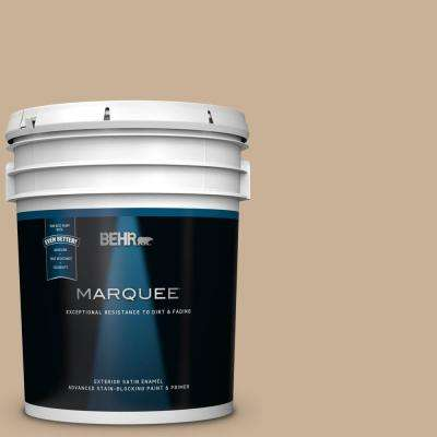 5 gal. #MQ2-46 Basswood Satin Enamel Exterior Paint and Primer in One