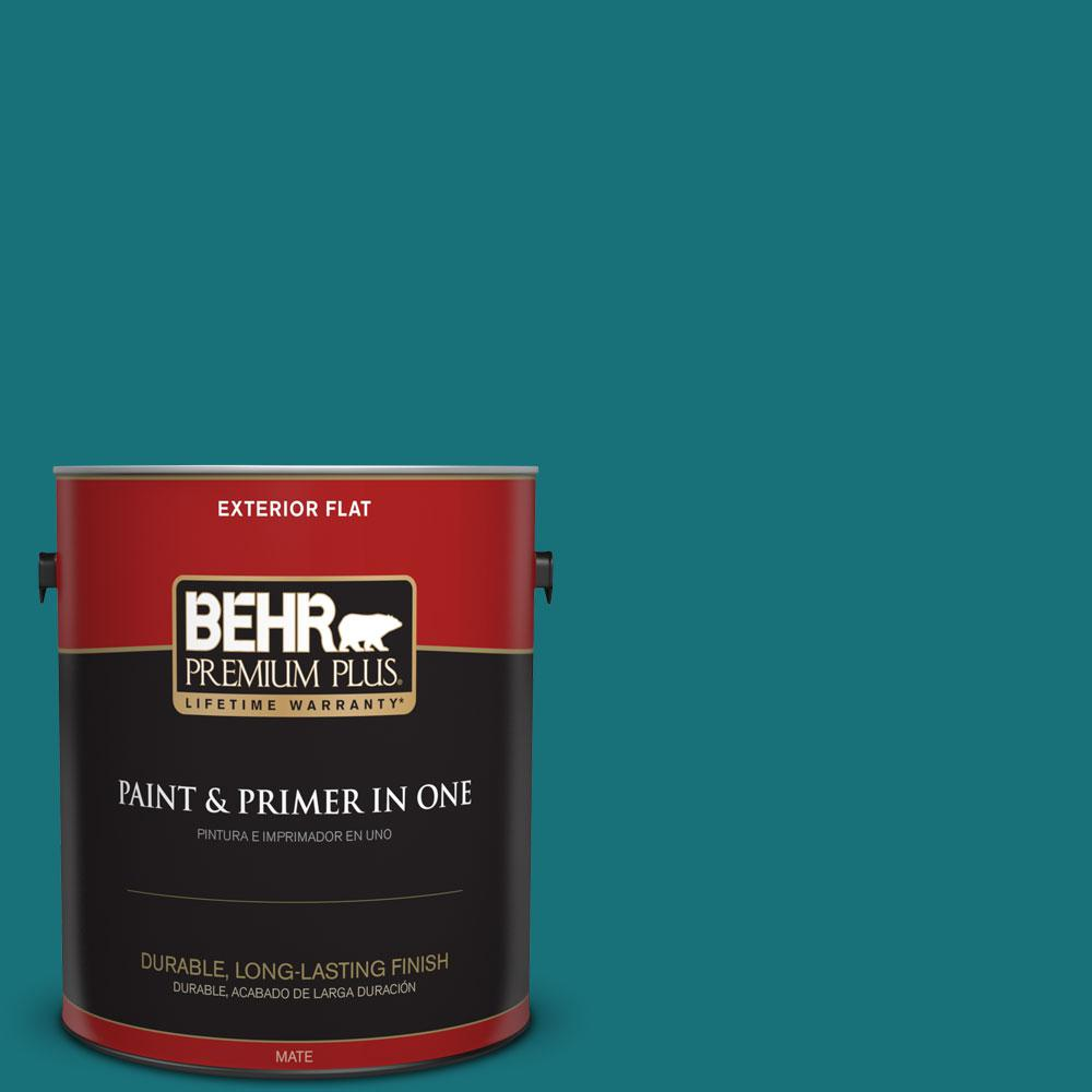BEHR Premium Plus 1-gal. #520D-7 Mosaic Tile Flat Exterior Paint