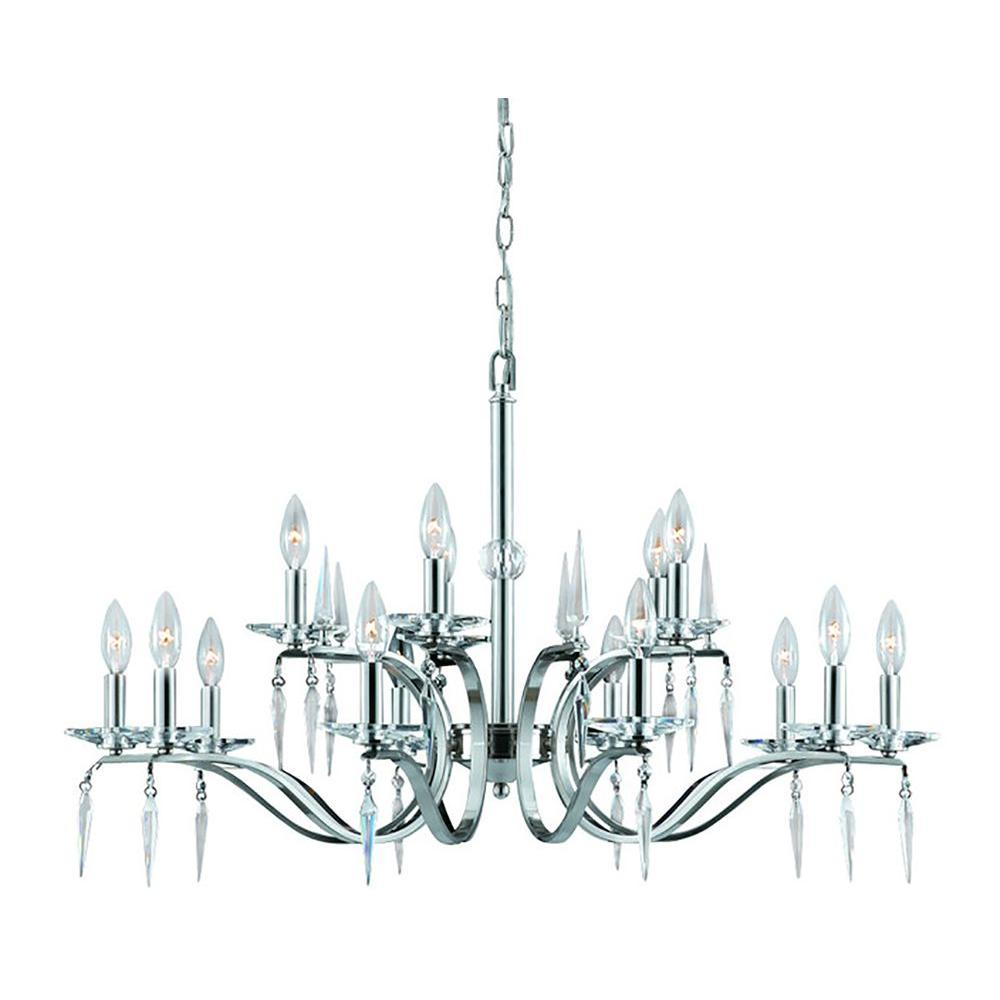 Filament Design Rubonga 15-Light Satin Nickel Chandelier