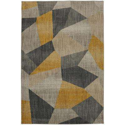 Downtown Mustard 8 ft. x 11 ft. Area Rug