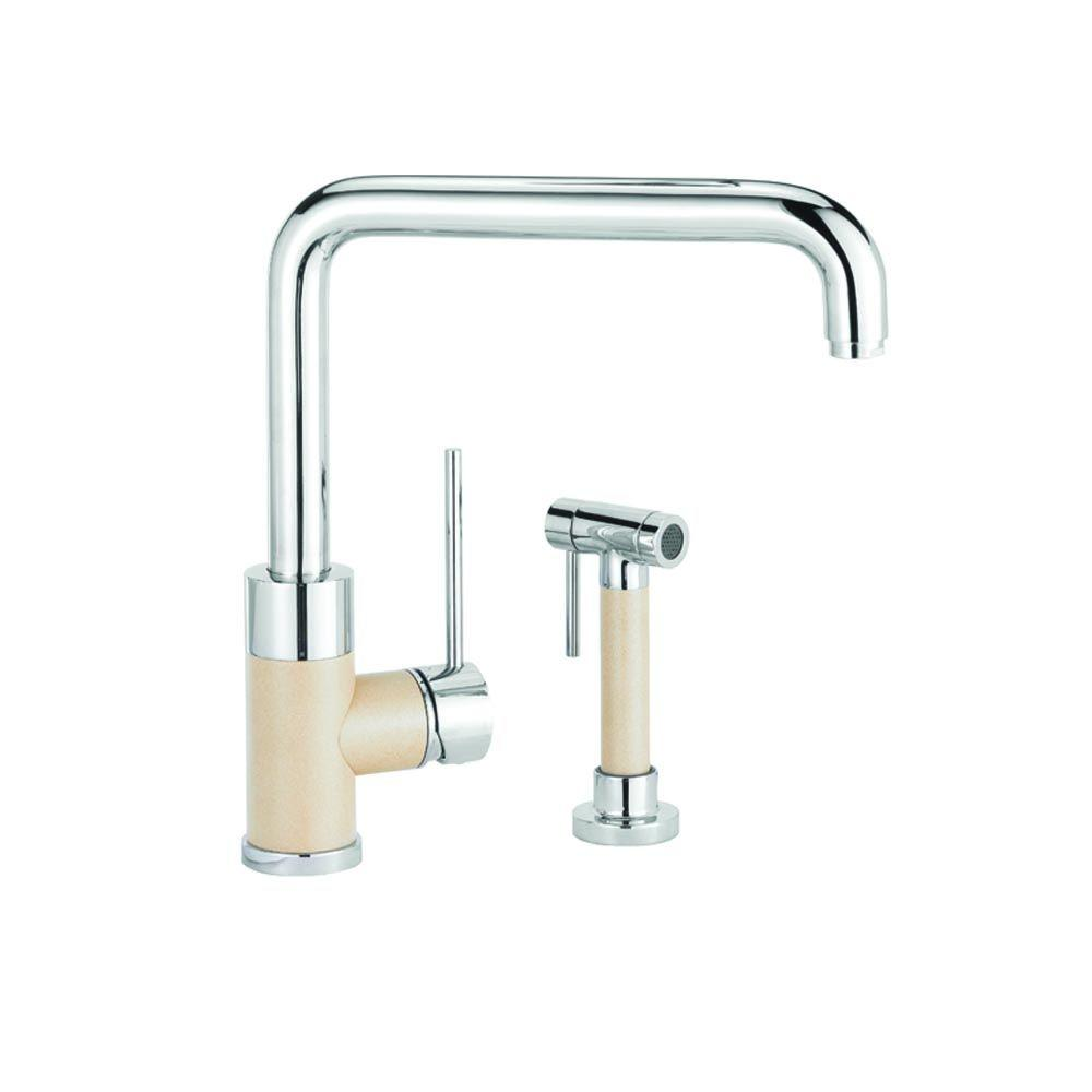 Blanco Purus I Single-Handle Side Sprayer Kitchen Faucet in Biscotti Mix