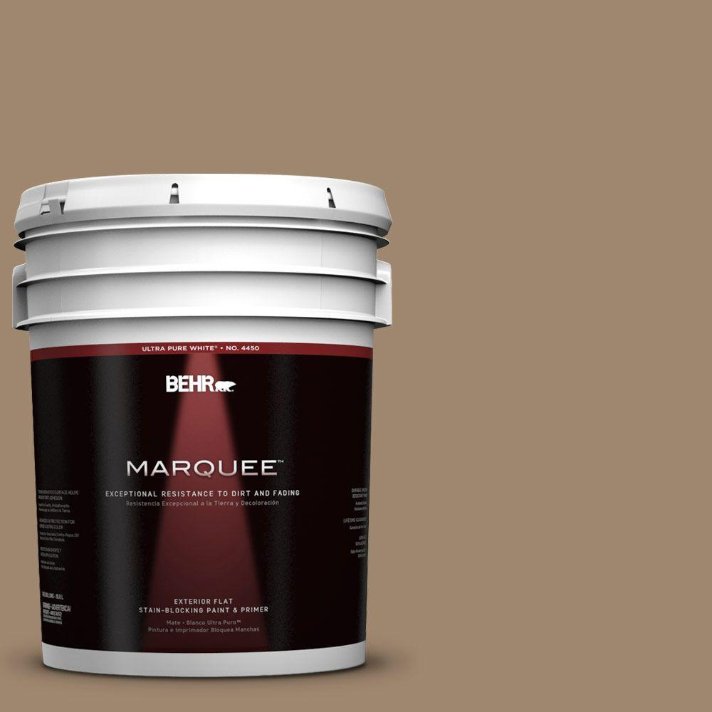 BEHR MARQUEE 5-gal. #700D-5 Toffee Crunch Flat Exterior Paint