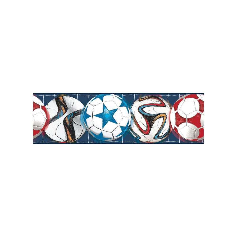 York wallcoverings inc growing up kids go after your goal for Temporary wallpaper border