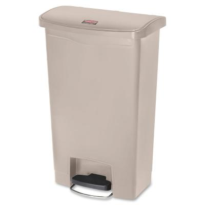28.3 in. H x 11.5 in. W 13 Gal. Beige Front Step Container