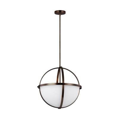 Alturas 3-Light Brushed Oil Rubbed Bronze Pendant with LED Bulbs