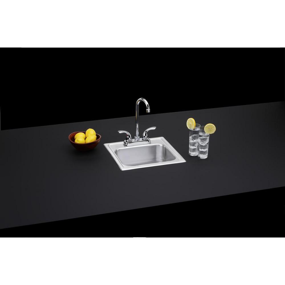 20 Gauge Stainless Steel 15 in. 2-Hole Drop-in Bar Sink