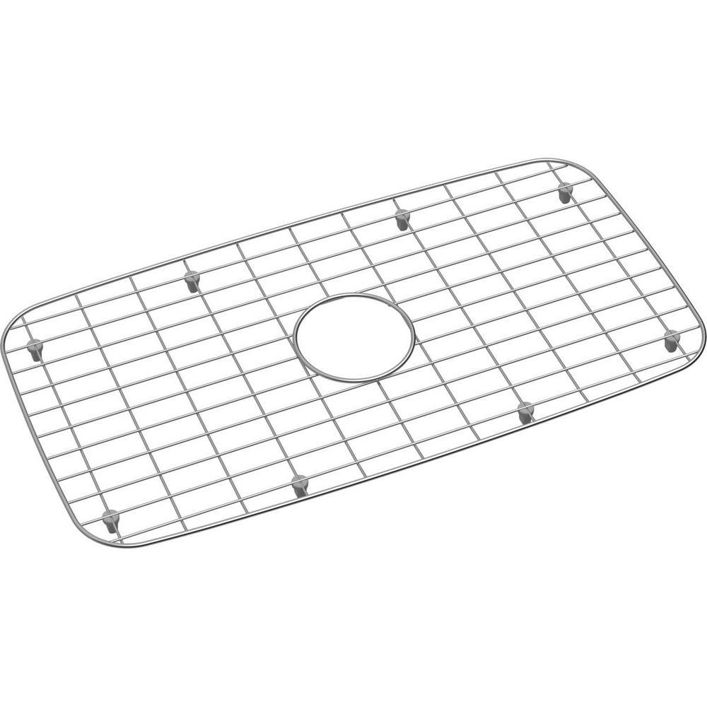Dayton 25.4375 in. x 13.375 in. Bottom Grid for Kitchen Sink in Stainless Steel