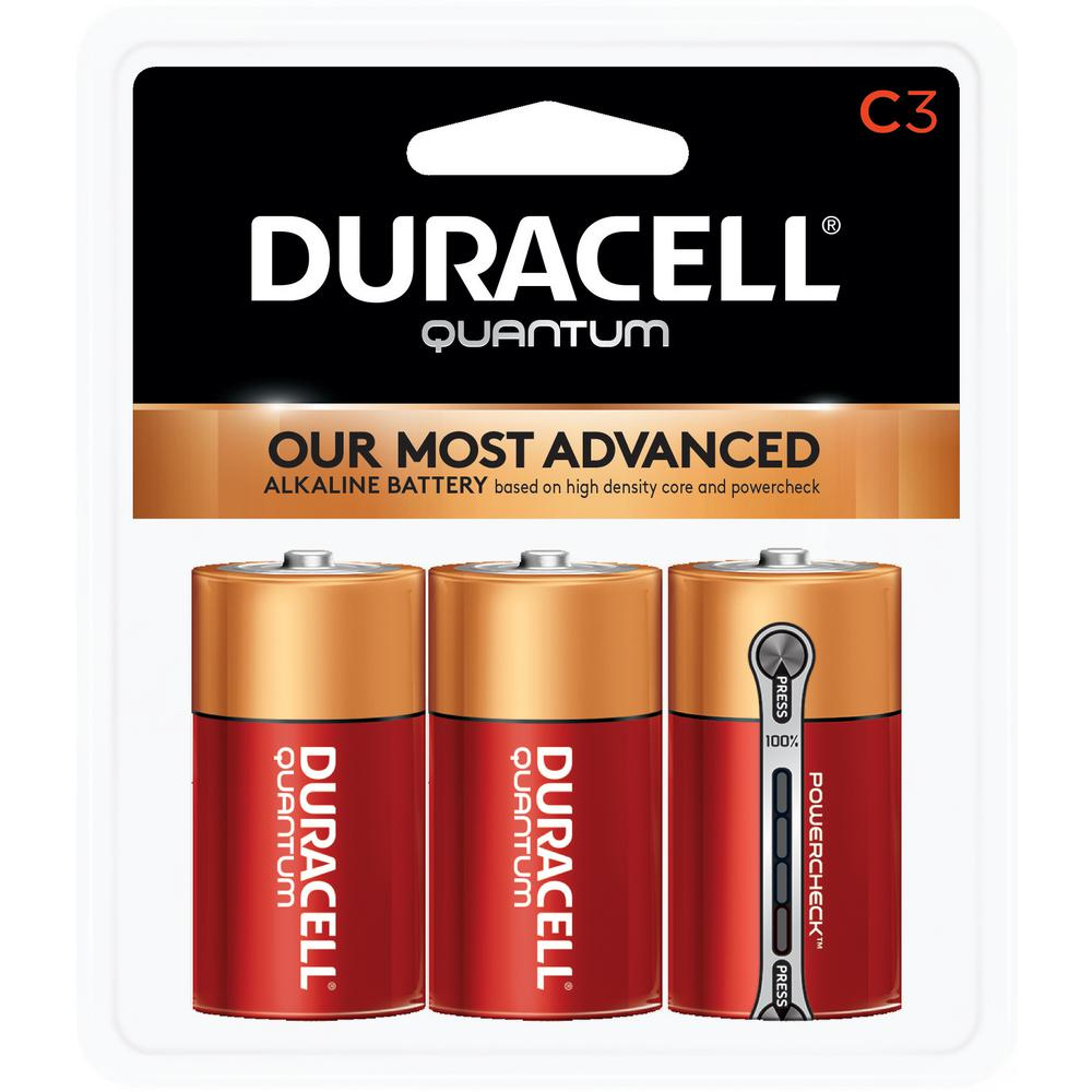 Quantum Alkaline 1.5-Volt C Battery (3-Pack)