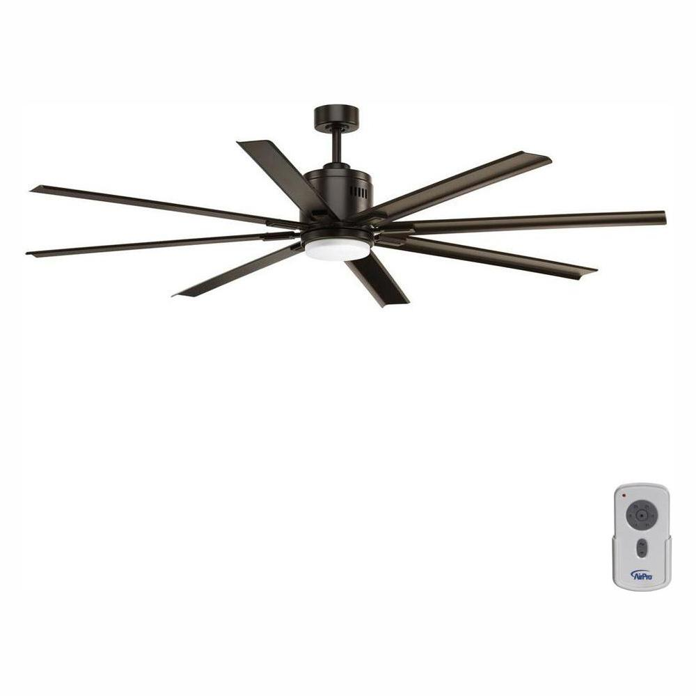 Progress Lighting Vast Collection 72 in. LED Indoor Antique Bronze Industrial Ceiling Fan with Light Kit and Remote