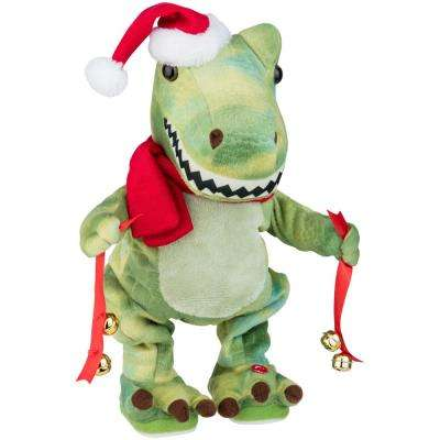 12.99 in. Twisting Waving Christmas T-Rex