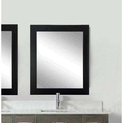 Current Trend 21 in. x 5 in. x 32 in. Formal Black Vanity Wall Framed Mirror