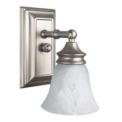 Wellington 1-Light Bright Satin Nickel Sconce