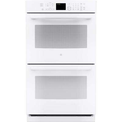 30 in. Double Electric Wall Oven Self-Cleaning with Convection in White