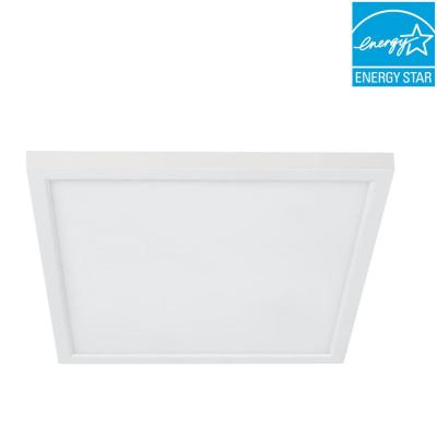 4 in. 8-Watt J-Box Dimmable 90 Plus CRI White Selectable Integrated LED Square Color Flat Panel Recessed Trim (4-Pack)