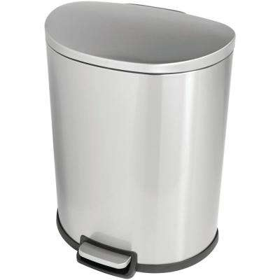 13 Gal. Stainless Steel Step-On Trash Can