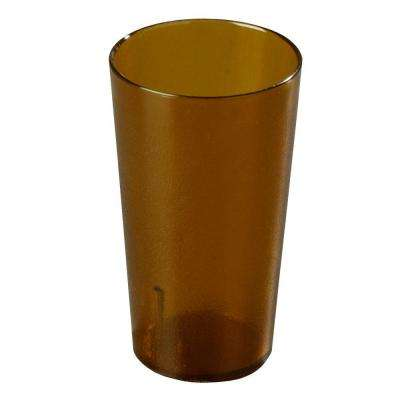 16 oz. SAN Plastic Stackable Tumbler in Amber (Case of 72)