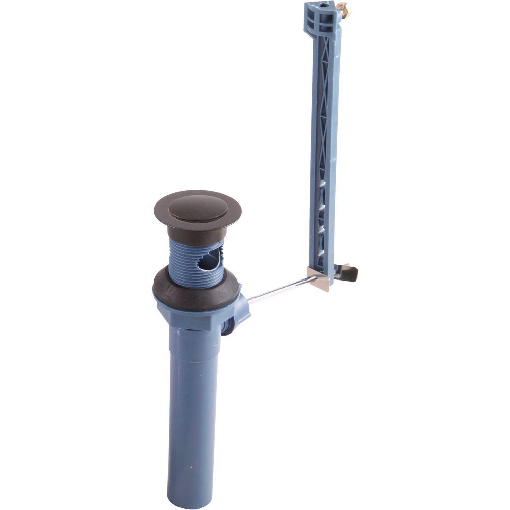 Plastic Pop-Up Drain Assembly Less Lift Rod in Venetian Bronze