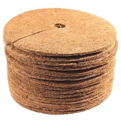0.3 in. x 9 in. Coconut Fibers Mulch Tree Ring Protector Mat (15-Pack)