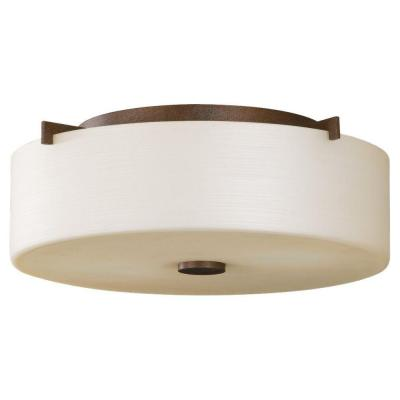 Feiss Sunset Drive 2-Light Corinthian Bronze Indoor Flushmount