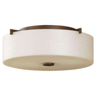 Sunset Drive 2-Light Corinthian Bronze Indoor Flush Mount