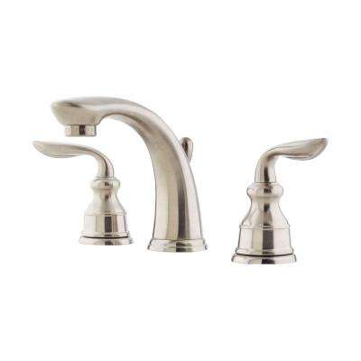 Avalon 8 in. Widespread 2-Handle Bathroom Faucet in Brushed Nickel