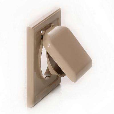 No Pest Vent 4 in. Wide-Mount Dual Door Wall Vent in Tan