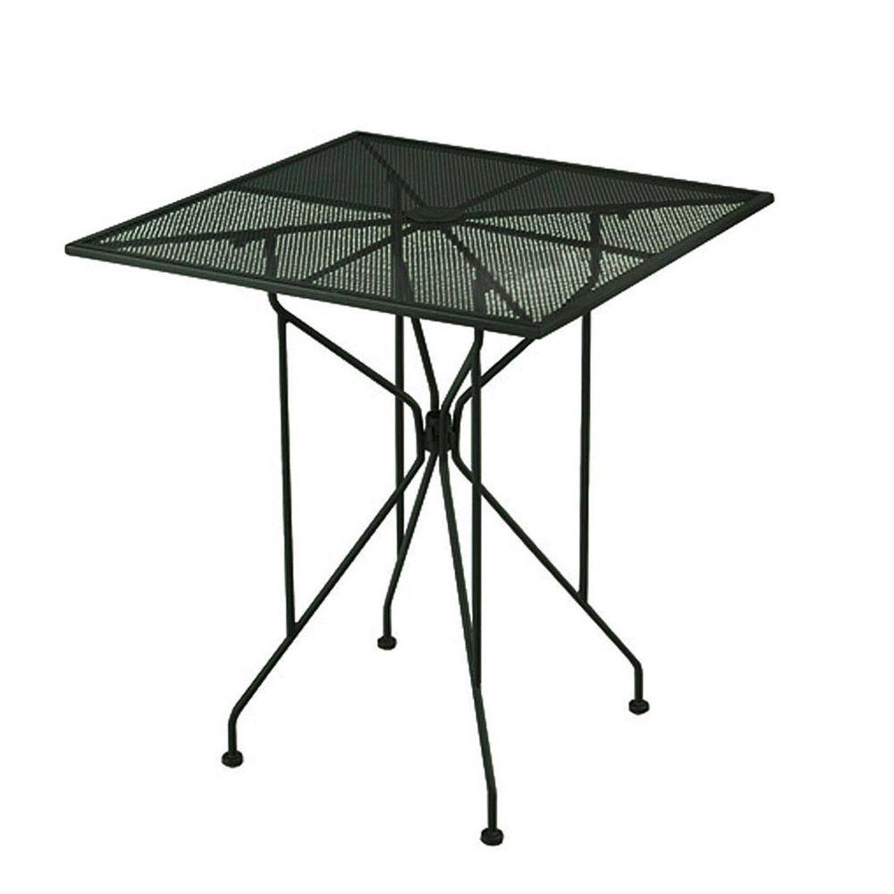 null Wrought Iron Green Patio Bar Table-DISCONTINUED