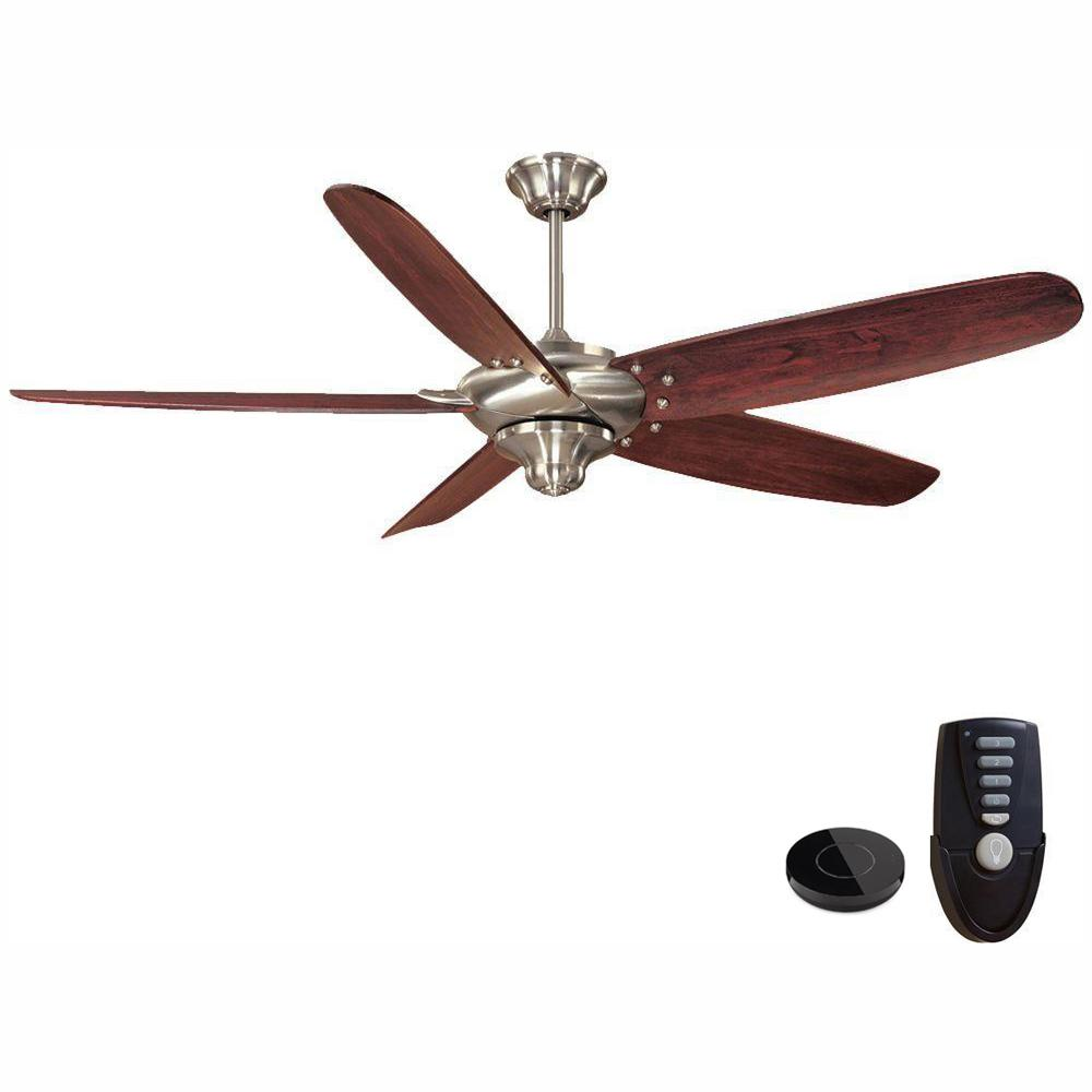 Home Decorators Collection Altura 68 in. Indoor Brushed Nickel Ceiling Fan Works with Google Assistant and Alexa