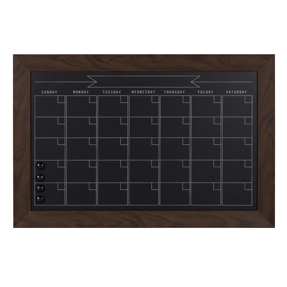 Beatrice Chalkboard Monthly Calendar Memo Board