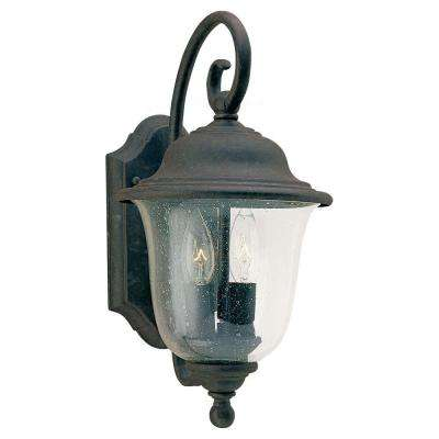 Trafalgar 2-Light Oxidized Bronze Outdoor Wall Mount Fixture