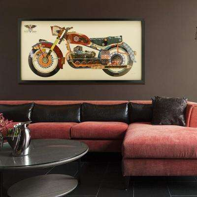"25 in. x 48 in. ""Holy Harley"" Dimensional Collage Framed Graphic Art Under Glass Wall Art"