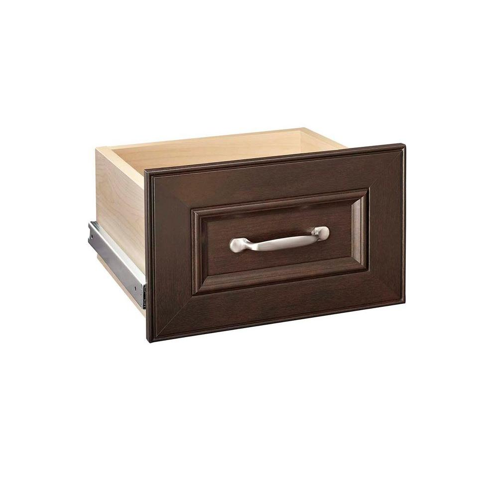 Impressions 13.39 in. x 8.7 in. Chocolate Narrow Wood Drawer Kit