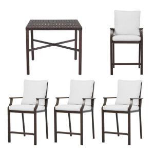 Hampton Bay Millstone 5-Piece High Patio Dining Set with Cushion Insert (Slipcovers Sold Separately) by Hampton Bay