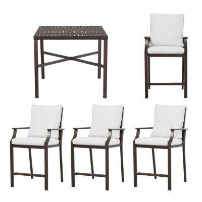 Millstone 5 Piece High Patio Dining Set With Cushion Insert (Slipcovers ...