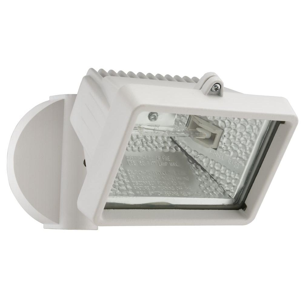 Lithonia Lighting Wall-Mount Outdoor White Mini Flood ...