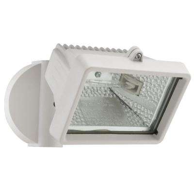 Wall-Mount Outdoor White Mini Flood Light