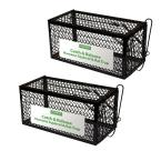 Catch and Release Humane Squirrel and Rodent Cage Trap (2-Pack)