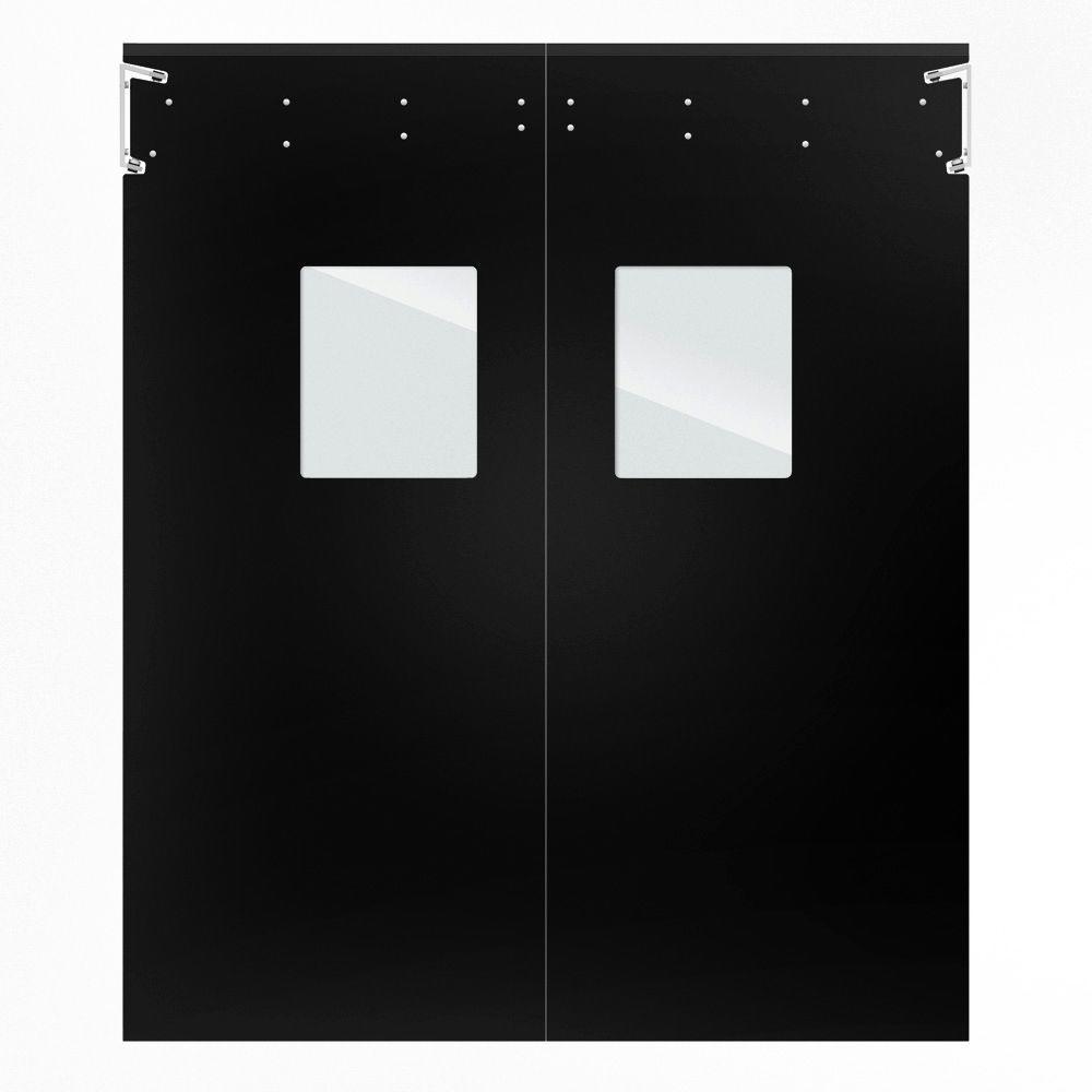 Optima 1/4 in. x 96 in. x 96 in. Single-Ply Black Impact Door