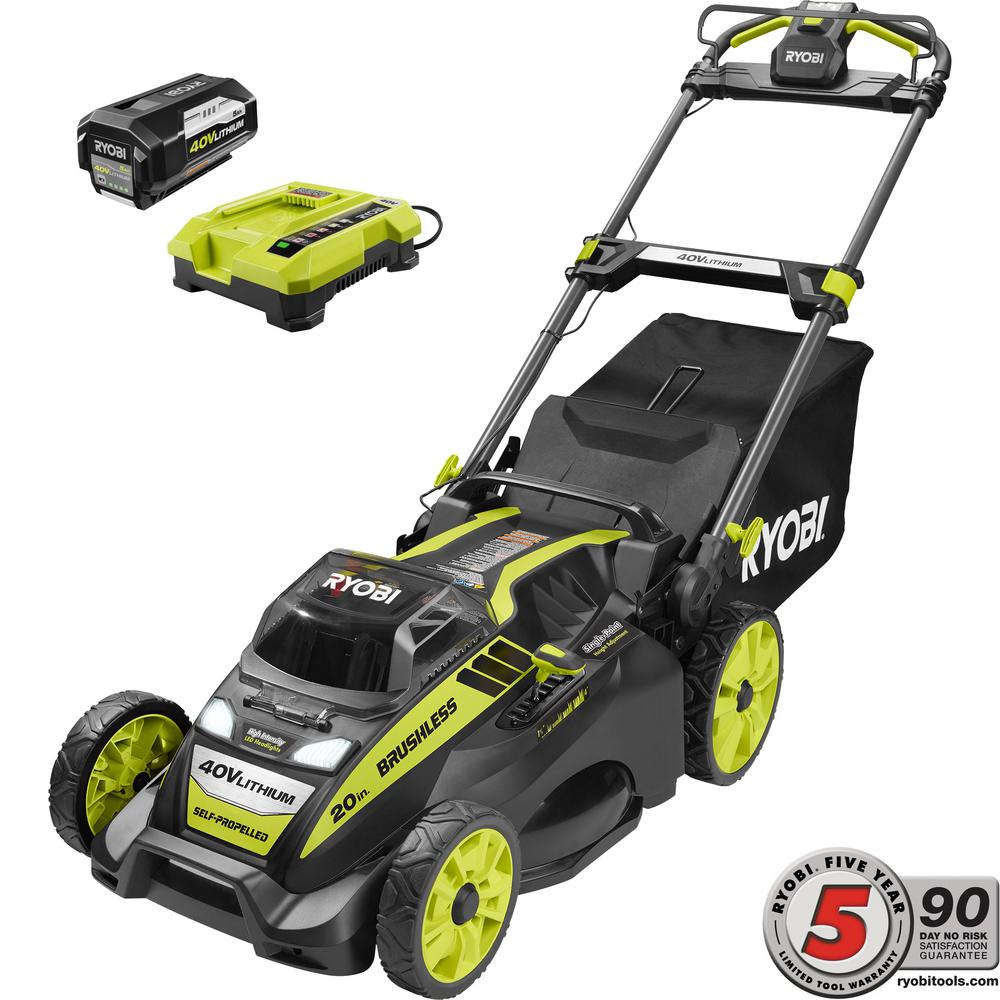40V Mower Self Propelled Lawn Clearance Cordless Electric Battery Operated Best