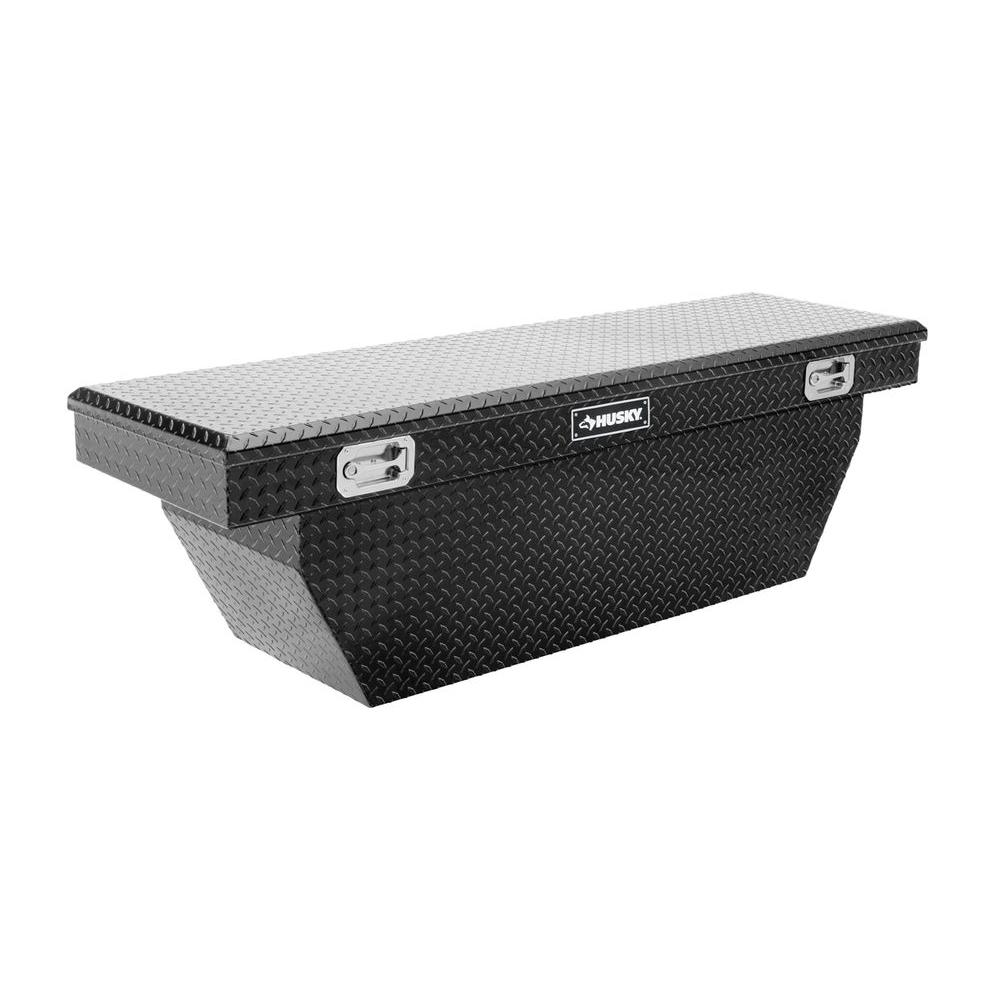 Husky 70 in. Black Aluminum Polished Deep Truck Box