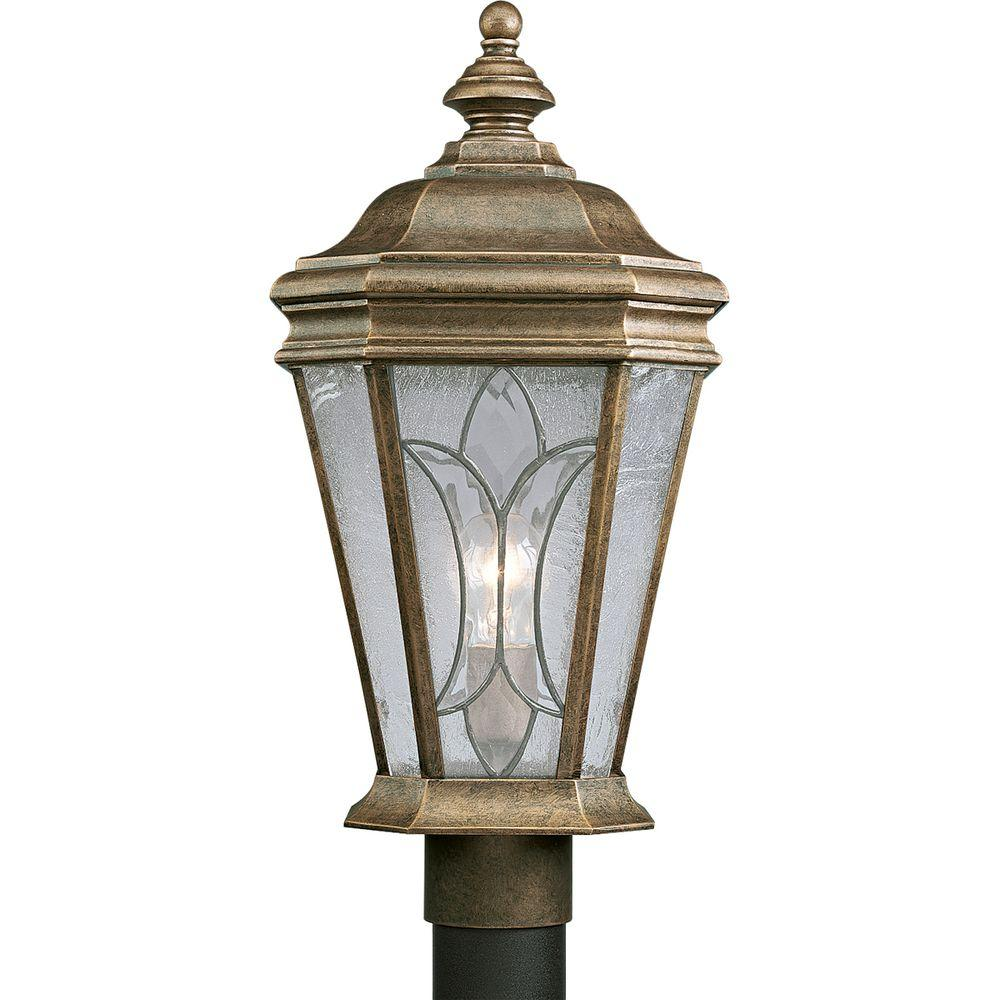 Progress Lighting Cranbrook Collection Burnished Chestnut 1-light Post Lantern