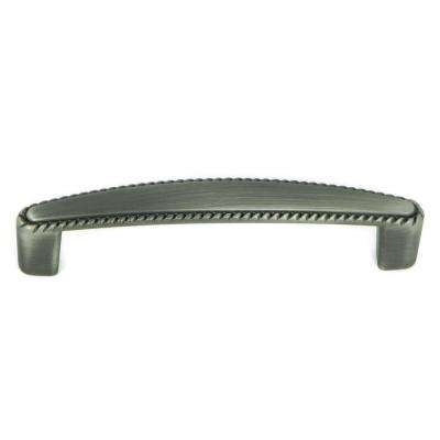 Austin 3-3/4 in. Center-to-Center Weathered Nickel Cabinet Pull (10-Pack)