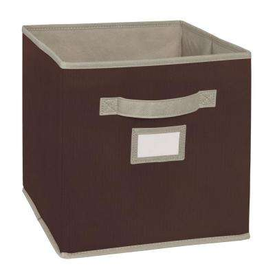 10.5 in. W x 11 in. H x 10.5 in. D Brown Fabric Drawer