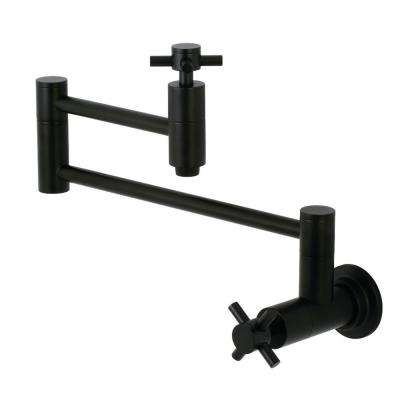 Concord Wall-Mounted Potfiller Cross Handle in Matte Black