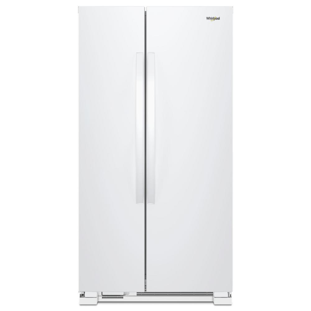 Whirlpool 22 Cu Ft Side By Refrigerator In White Wrs312snhw Ice Maker Parts Diagram Further