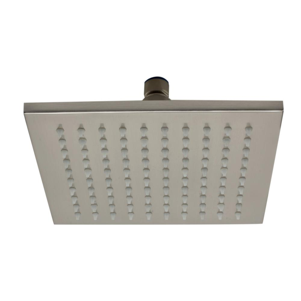 ALFI BRAND 1-Spray 8 in. Fixed Showerhead with LED Lighting in Brushed Nickel