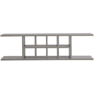Cambridge Ready to Assemble 48 in. x 13 in. x 11.25 in. Flex Shelving Wall Cabinet with Dividers in Gray