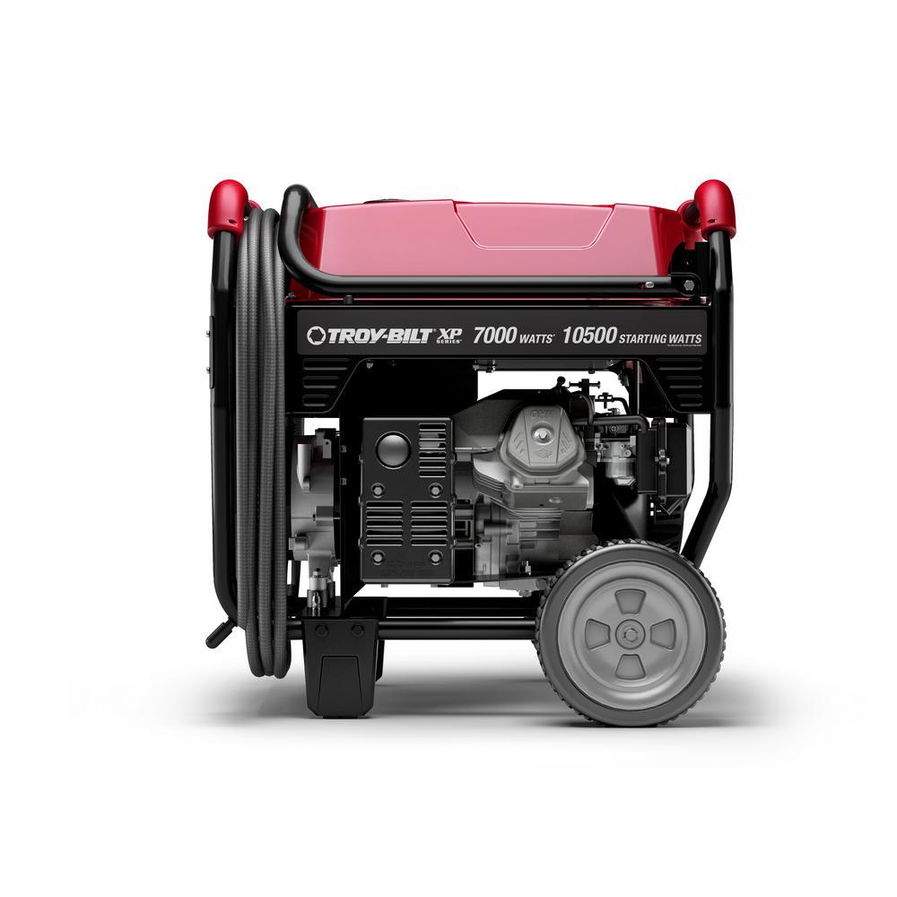 Troy-Bilt XP Series 7000-Watt Gasoline Electric Start Portable Generator  powered by OHV Engine